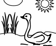 Coloring pages Lake under the Sun