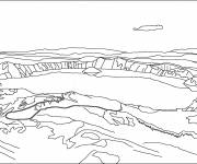 Coloring pages Mountain lake
