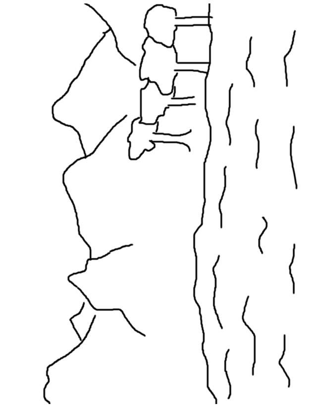 Free coloring and drawings Pencil lake Coloring page