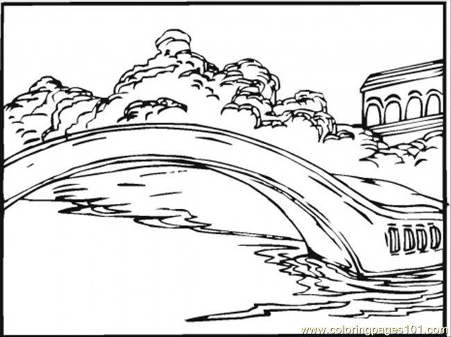 Free coloring and drawings Pond on the lake Coloring page