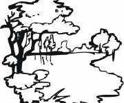 Free coloring and drawings Vector lake Coloring page