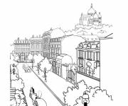 Free coloring and drawings City landscape Coloring page