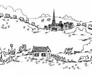 Coloring pages Holiday in the countryside