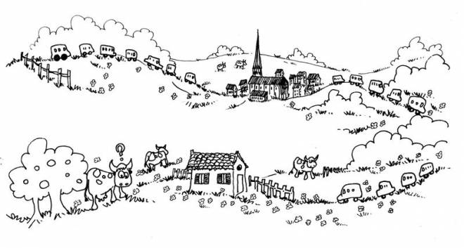 Free coloring and drawings Holiday in the countryside Coloring page