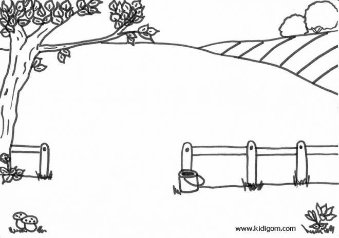 Free coloring and drawings Landscape Countryside and nature Coloring page