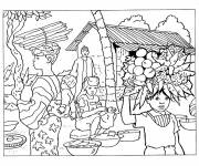 Free coloring and drawings Landscape in Africa Coloring page