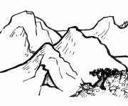 Coloring pages Pencil mountain