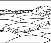 Coloring pages The Field in the Countryside
