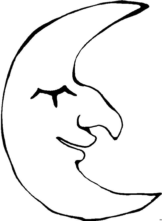 Free coloring and drawings Croissant with eyes closed Coloring page
