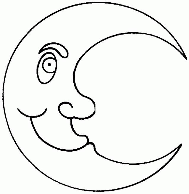 Free coloring and drawings Maternal crescent moon Coloring page