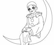 Coloring pages Moon and the Clown