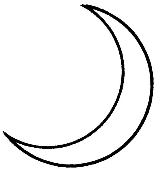 Free coloring and drawings Simple crescent moon Coloring page