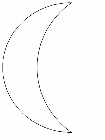 Free coloring and drawings Single crescent Coloring page
