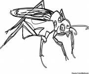 Coloring pages Color insect mosquito
