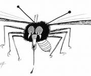 Coloring pages Mosquito and Blood