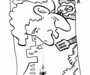 Coloring pages Mosquito and guitarist