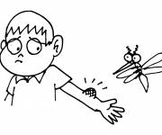 Coloring pages Mosquito and the unhappy child