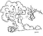 Coloring pages Mosquito and Tree