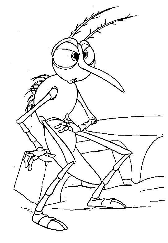 Free coloring and drawings Mosquito humor Coloring page