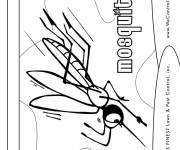 Coloring pages Mosquito in attack
