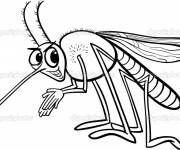 Coloring pages Nasty mosquito