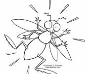 Coloring pages Surprised mosquito