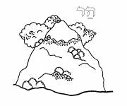 Coloring pages A small mountain