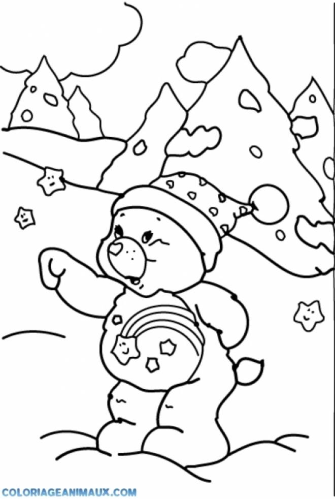 Free coloring and drawings Bear in the Mountain Coloring page