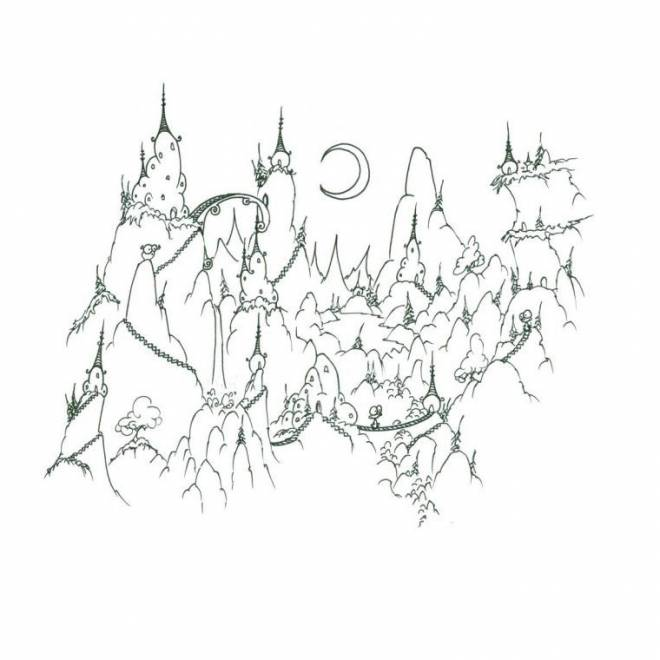 Free coloring and drawings Cartoon mountain Coloring page