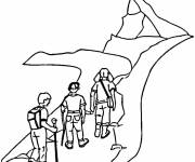 Coloring pages Climbers Climb Mountain