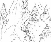 Coloring pages Humorous mountain
