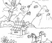 Coloring pages Magic mountain