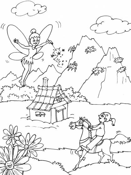 Free coloring and drawings Magic mountain Coloring page