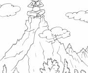 Coloring pages Meditation on the Mountain