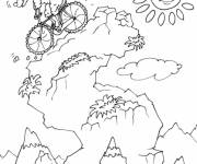 Coloring pages Mouflon on bicycle