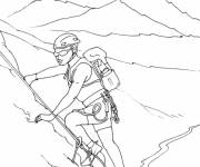 Coloring pages Mountain and sport