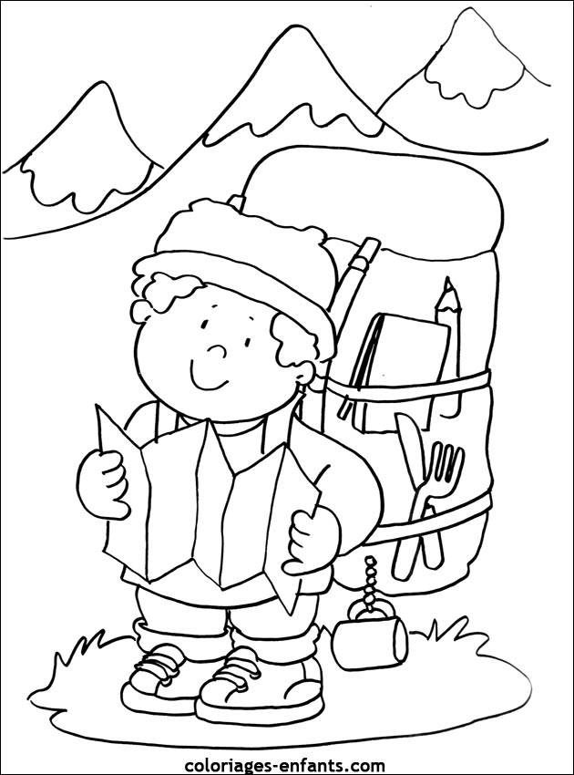Free coloring and drawings Mountain climber Coloring page