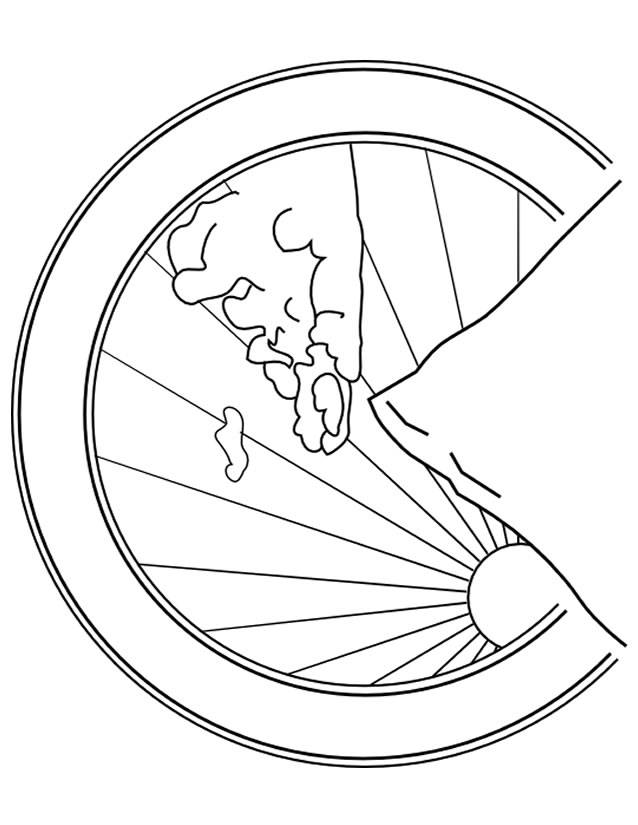 Free coloring and drawings Mountain Map Coloring page