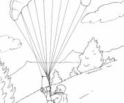 Coloring pages Mountain Sports in Black