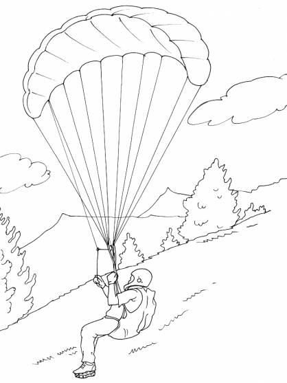 Free coloring and drawings Mountain Sports in Black Coloring page
