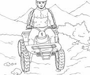 Coloring pages Quad in the Mountain