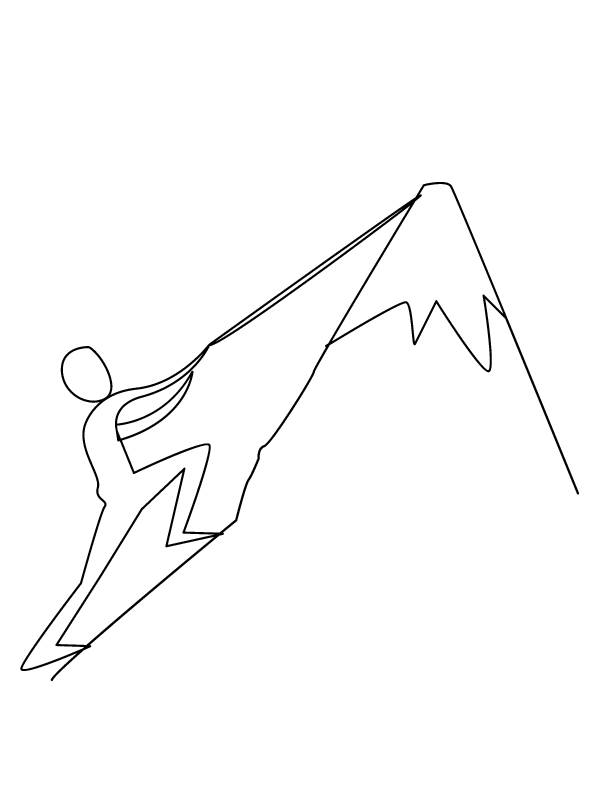 Free coloring and drawings Simple climber Coloring page