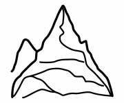Free coloring and drawings Simple mountain Coloring page