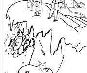 Free coloring and drawings Snow mountain Coloring page