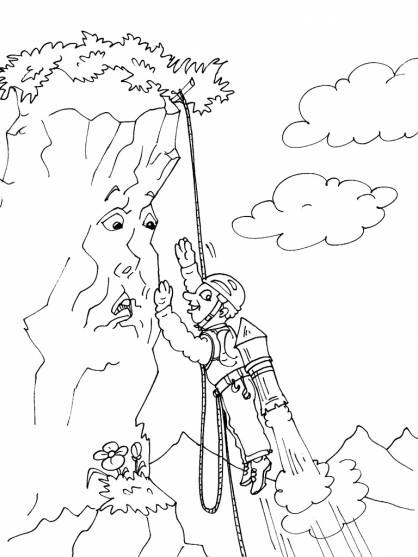 Free coloring and drawings Talking Mountain Coloring page
