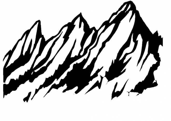 Free coloring and drawings Vector mountain Coloring page