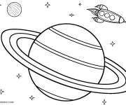 Coloring pages A rifle in space
