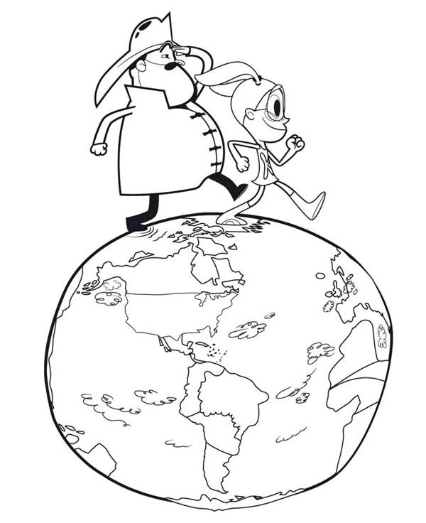 Free coloring and drawings Cartoon planet earth Coloring page