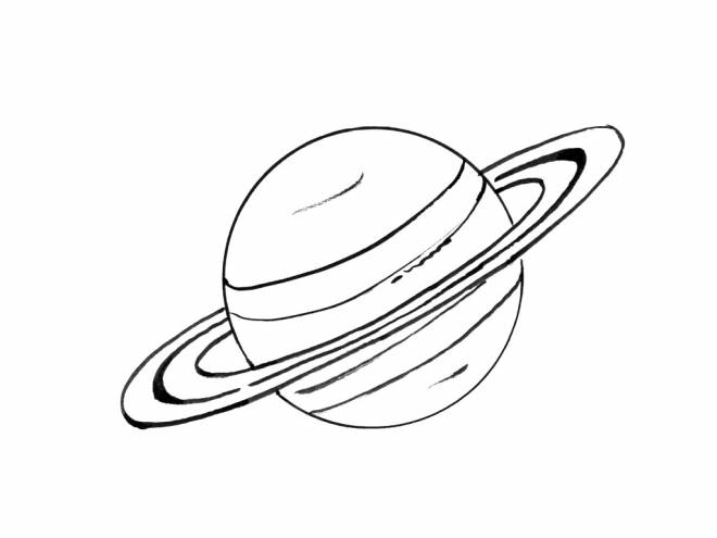Free coloring and drawings Color saturn Coloring page