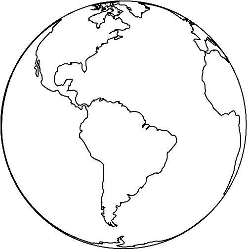 Free coloring and drawings Earth in color Coloring page